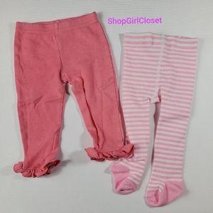💥Just In💥 2pc Leggings Girls sz 3-6M